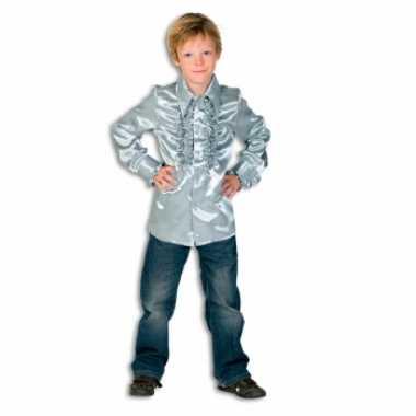 Zilveren hippie verkleedkleding jongens