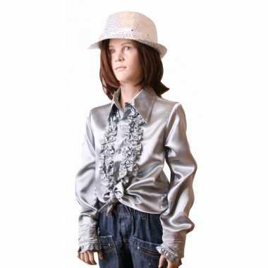 Zilveren hippie verkleedkleding meisjes