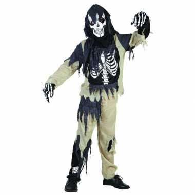 Zombie skelet kinder verkleedkleding
