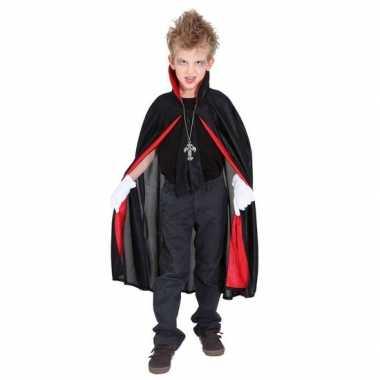 Zwarte dracula/vampieren cape voor kinderen