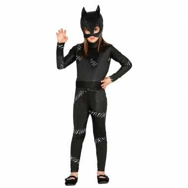 Zwarte katten verkleedkleding / verkleedkleding voor meisjes