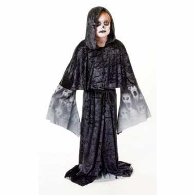Zwarte zombie cape voor kinderen