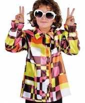 Gekleurde disco kinder verkleedkleding