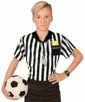 Voetbal scheidsrechter verkleedkleding shirt jongens met opdruk